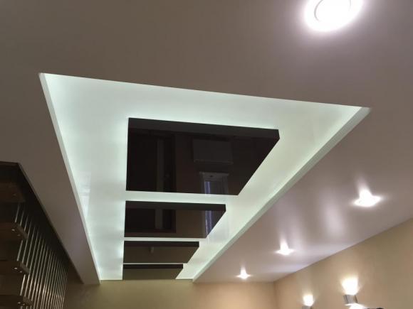 Двухуровневый натяжной потолок заказать в Лисках