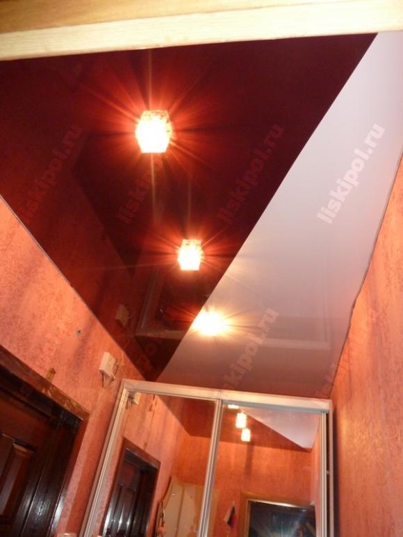 Комбинация цветов на натяжном потолке