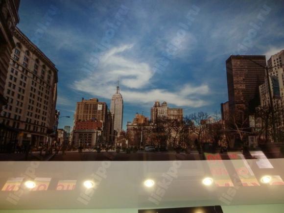 Изображение города Нью-Йорк на натяжном потолке: смотрится стильно!