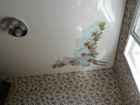 """Фотопечать """"Белая Орхидея"""". Натяжной потолок в Давыдовке"""
