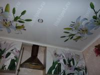 Потолок с фотопечатью для кухни